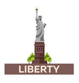 travel to usa new york poster statue of liberty vector image vector image