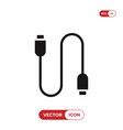 usb cable icon vector image vector image