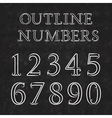 Vintage outline numbers with flourishes Numbers in vector image vector image