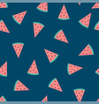 watermelon indigo blue background vector image