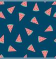 watermelon indigo blue background vector image vector image
