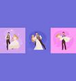 wedding marriage concept design vector image