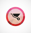 wheelbarrow circle pink triangle background icon vector image vector image