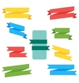 Collection of Ribbon Label vector image