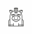 cute donkey icon on white background vector image