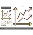 Growth trend line icon vector image