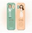 Romantic Couple Labels Set vector image
