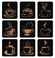 Abstract Coffee Cup Icon vector image vector image