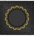antique background with golden frame vector image
