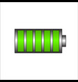 battery charging icon green battery full charge vector image vector image