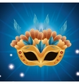 beautiful mask carnival bright background vector image