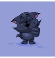Black cat thumb up vector image vector image