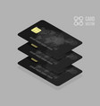 black credit cards for banking app or site vector image
