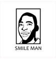 black smile man logo pele logo vector image vector image