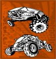 buggy and bike vector image vector image