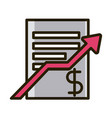 business report profit arrow financial investing vector image vector image