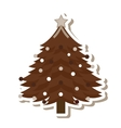 christmas tree isolated icon vector image