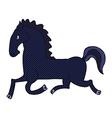 comic cartoon running black stallion vector image vector image