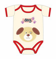 cute clothes for newborn with dog vector image vector image