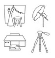 design photography and equipment sign vector image vector image