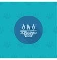 Diwali Indian Festival Icon vector image vector image