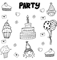 Element party doodle vector image vector image