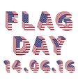 Flag Day from 3d USA Flag letters vector image vector image