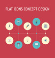 flat icons scheme science concept and other vector image vector image