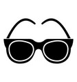 goggles - sunglasses icon vector image