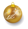 Golden Christmas ball reflecting light New Year vector image vector image