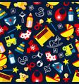 good night children bedroom decoration pattern vector image