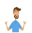 happy cartoon man shows gesture cool vector image