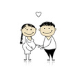 Happy parents waiting for baby pregnancy vector image vector image