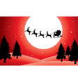 holiday background with santa vector image vector image