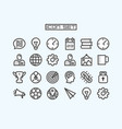 icons set business office art vector image