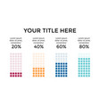 infographic diagram chart graph vector image vector image