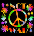 international symbol of peace disarmament anti vector image
