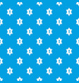 keyhole pattern seamless blue vector image vector image