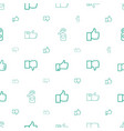 like icons pattern seamless white background vector image vector image