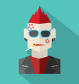 Modern Flat Design Punk Rock Man vector image