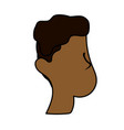 nice man face with haistyle vector image vector image