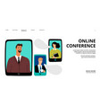 online conference landing page vector image