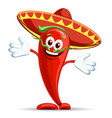 pepper in sombrero vector image