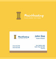 piller logo design with business card template vector image