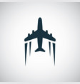 plane icon simple flat element concept design vector image vector image