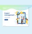 project management website landing page vector image