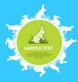 rabbits text vector image