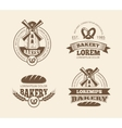 Retro bread bakery old style logos labels badges vector image vector image
