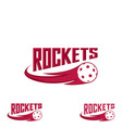 rocket floorball logo for the team and the cup vector image vector image