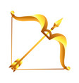 sagittarius zodiac sign golden horoscope symbol vector image